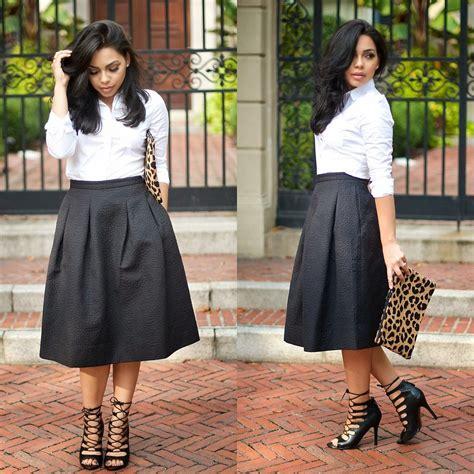 fashionista now how to style black midi skirts fashion