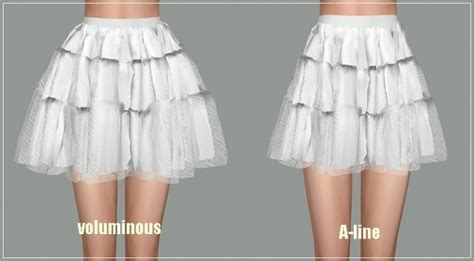 Ballet Tier Mini skirt at Marigold » Sims 4 Updates