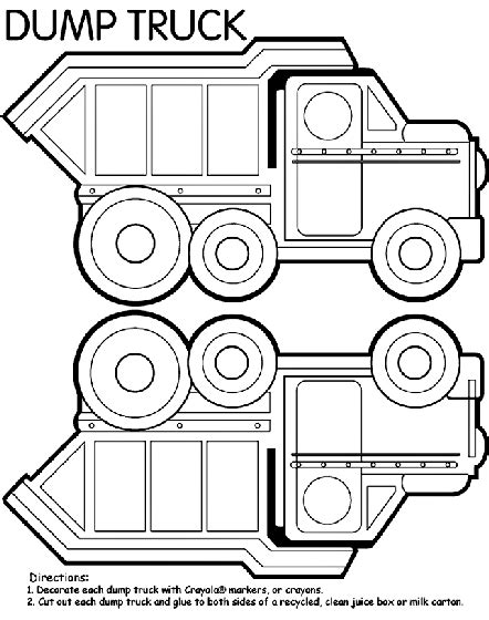 box truck coloring page dump truck box coloring page crayola com