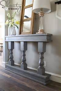Table For Hallway Entrance Diy Console Table From Shanty 2 Chic Osborne Wood