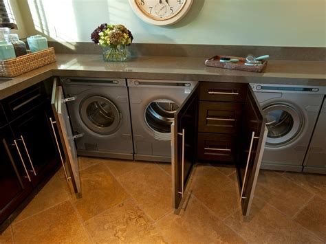 cabinets to hide washer and dryer out of sight excluding occasions when units are being