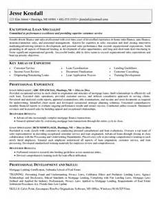 Resume Writer Free by Example Loan Specialist Resume Free Sample