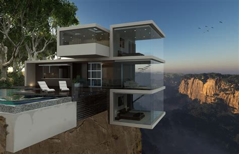 Glass Box Architecture by Nine Breathtaking Cliffside Houses With Thrilling Views
