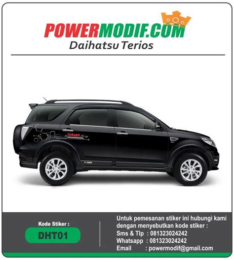 Cutting Sticker Gitaris Ina Motor Laptop Mobil cutting sticker daihatsu terios simpel dht01 powermodif