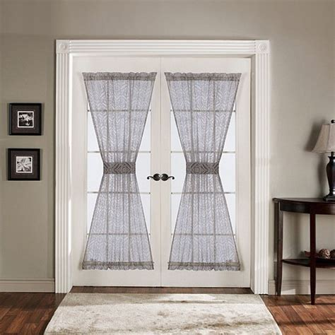72 inch curtains window treatments lush decor antique gray 72 inch french door panels 34