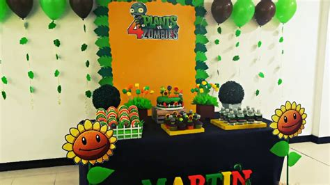 decoracion fiestas infantiles youtube decoracion plantas vs zombies fiesta infantil youtube