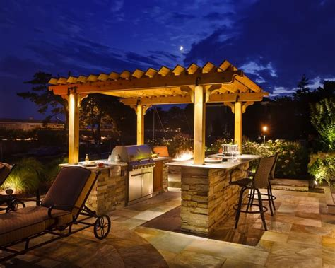 Outdoor Bbq Island Lighting A Grilling Station Creates An Inviting Spot For Family And Friends To Gather Outside The
