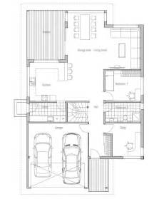 Home Plans For Narrow Lots Contemporary House Plans Modern House Plan To Narrow Lot