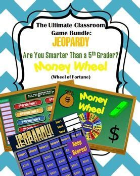 Games Bundle Jeopardy Template Money Wheel Are You Smarter Than A 5th Grader Wheels Gaming Are You Smarter Than A 5th Grader Template