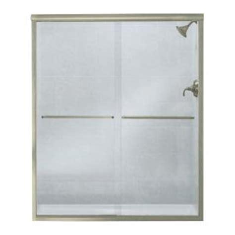 Sterling Finesse 59 5 8 In X 70 1 16 In Frameless Sterling Glass Shower Doors