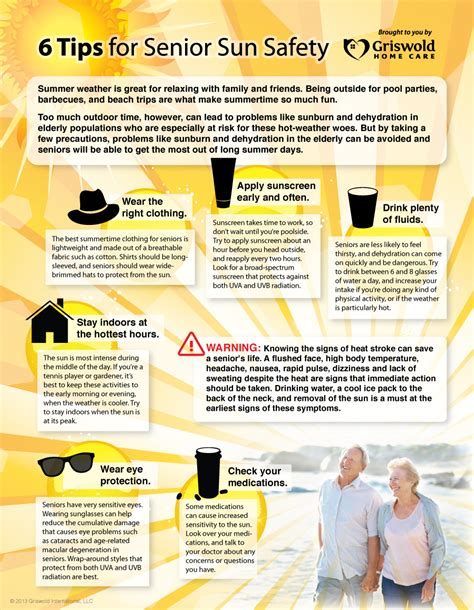 Search Help For Seniors Infographic 6 Tips For Senior Sun Safety Griswold Home