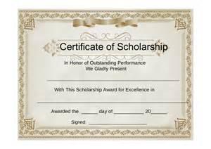 scholarship certificate template award certificate template free printable certificate