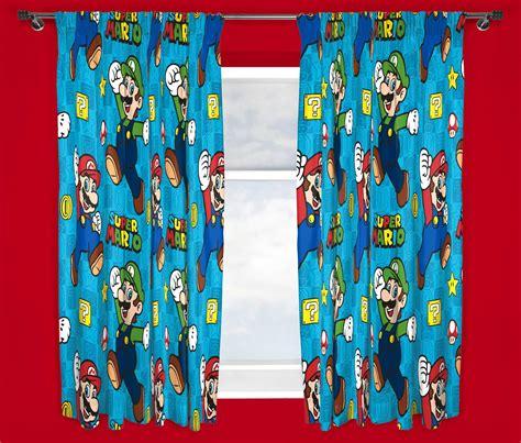 mario bros curtains nintendo super mario brothers games childrens curtains 66