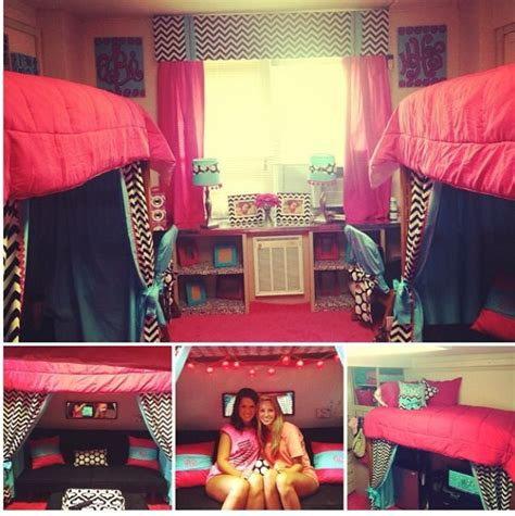 cute dorm room ideas dorm ideas for the home pinterest so cute pink blue and lounge areas