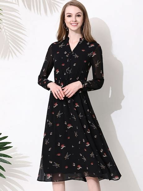 Sleeve Chiffon Midi Dress chiffon midi dress with sleeves