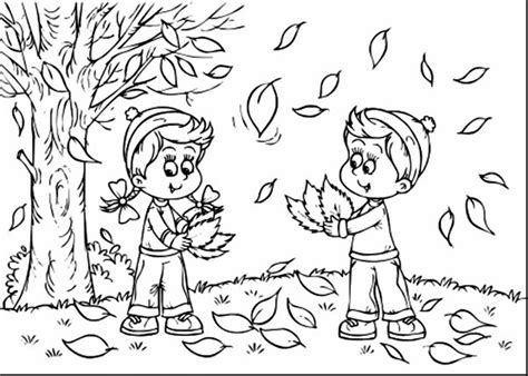 coloring pages of fall scenes fall scene of nature coloring pages fall best free