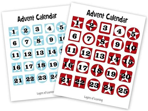 free printable tags to put on a paper chain advent