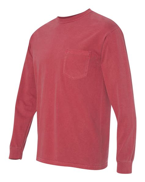 comfort color long sleeve comfort colors long sleeve pocket t shirt 4410 s 3xl