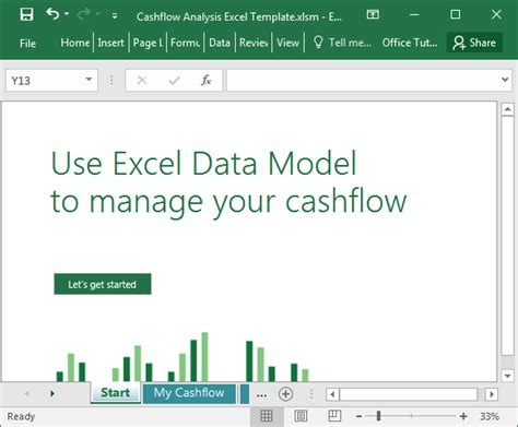 Cashflow Analysis Excel Template How To Create A Template In Excel 2016