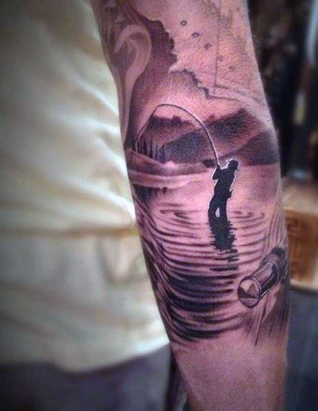 fishing rod tattoo designs 75 fishing tattoos for reel in manly design ideas
