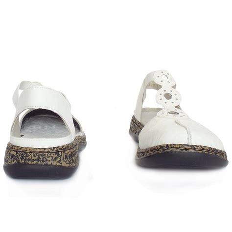 closed toe sandals s rieker snowdrop c closed toe sandals in white