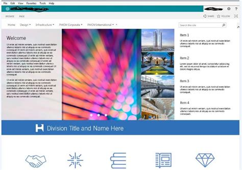 create a home page using asp net sharepoint