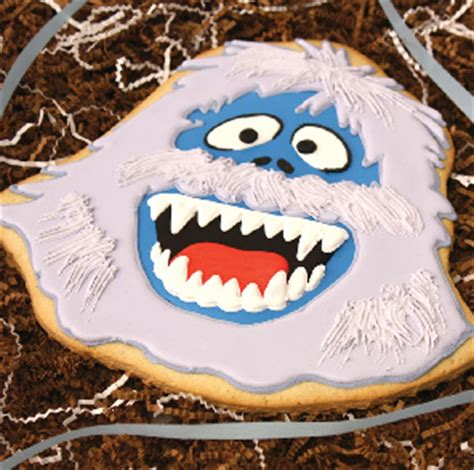 Large Decorated Cookies by Clever Cookie Abominable Snowman Decorated Cookie