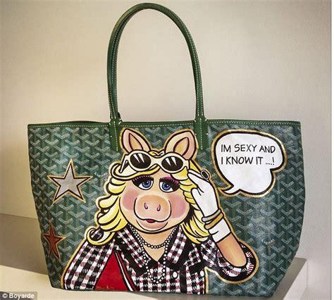 Be Unique With Williams Custom Handbags by Boyarde The Artist Who Uses Designer Handbags Like Goyard