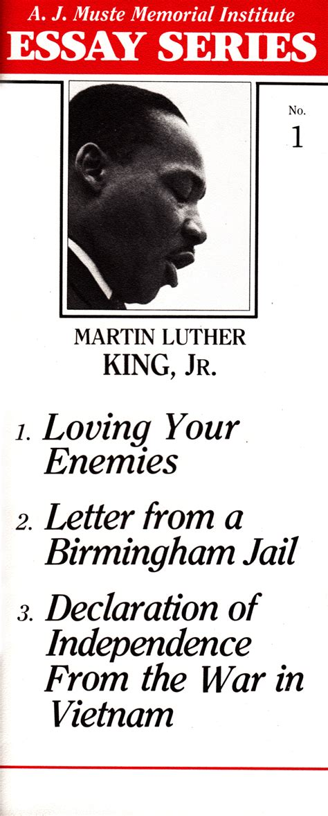 An Essay On Martin Luther King Jr by Martin Luther King Jr Essay From