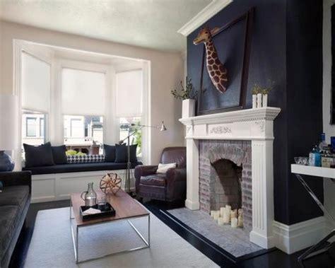 midnight blue living room design ideas remodels photos