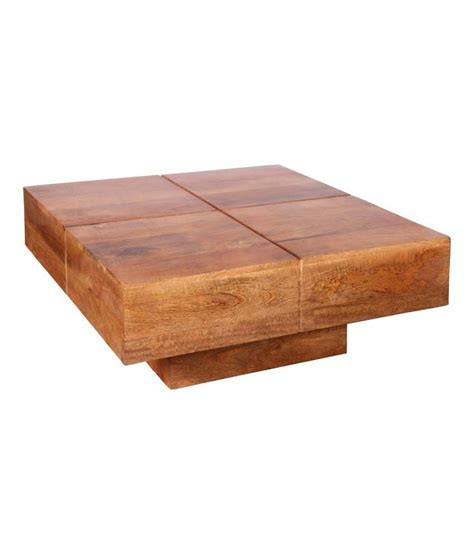 Coffee Table Cost Ethnic Handicrafts Solid Wood Coffee Table In Brown Buy