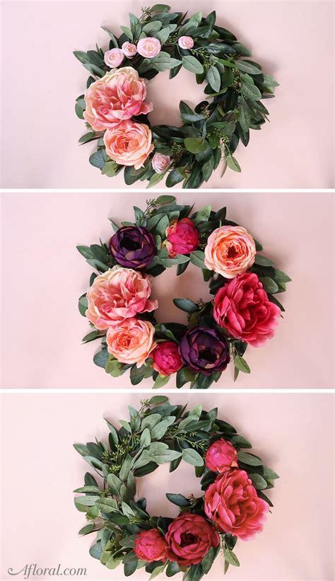 silk flower wreath home decor silk