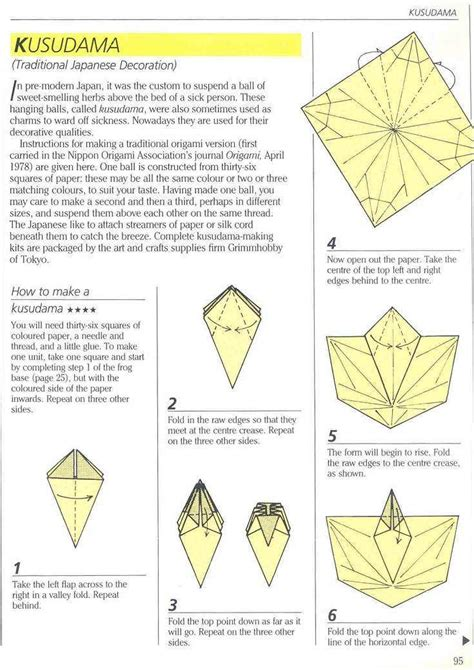 Traditional Origami Designs - traditional japanese kusudama
