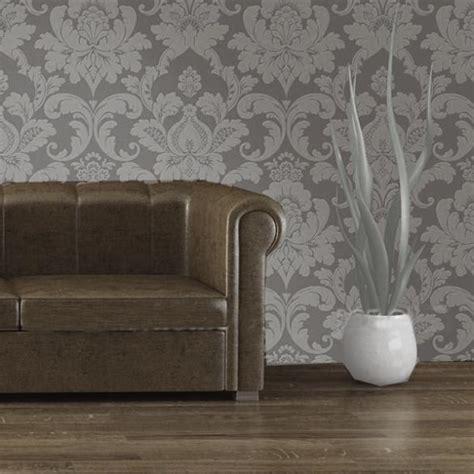 silver grey wallpaper living room vintage elegant embossed glitter bedroom wallpaper gray