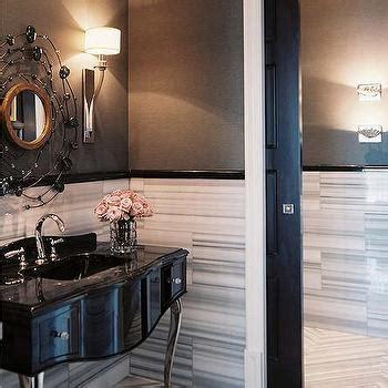 calcutta marble contemporary bathroom pappas miron black and white powder room vintage bathroom ore studios