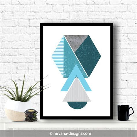 geometric home decor geometric turquoise theme stripes scandinavian home decor