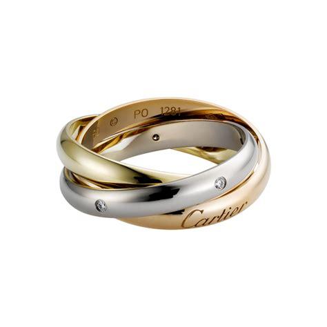 ring cartier 3 gold diamonds b4086000