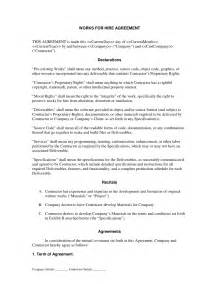 Hire Agreement Template by Work For Hire Agreement Template Best Template Idea