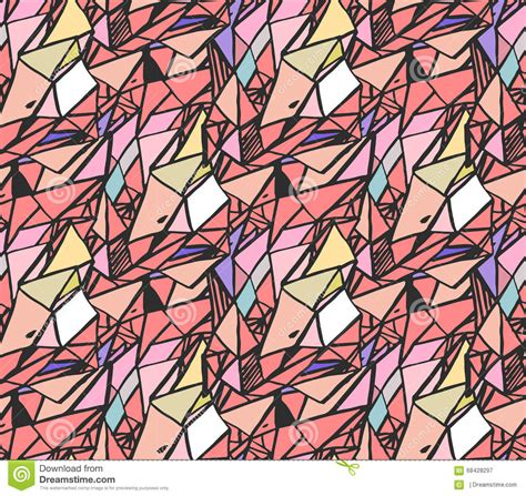mosaic pattern trend geometric hand draw ink patterns colorful trend abstract