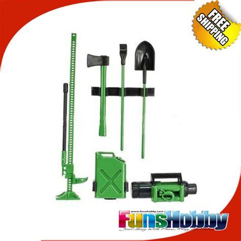 1 10 Scale Rc Rock Crawler Accessory Decor Tool Set For Wraith D90 D11 1 mhpc rc rock 1 10 scale green tool kit accessory crawler par scx10 cc01 wrait cr01 f350 rc4wd