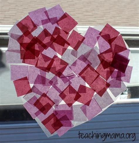 Tissue Paper Suncatcher Craft - tissue paper suncatchers