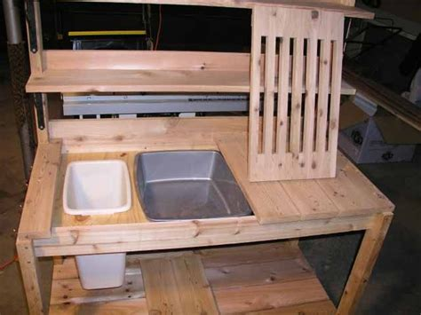potting bench with sink plans 44 best images about outdoor projects potting bench on