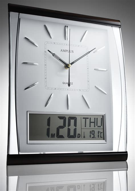Kg Homewares Silent Digital Wall Clock White | kg homewares silent digital wall clock white