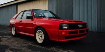 this is what is like with an audi sport quattro in