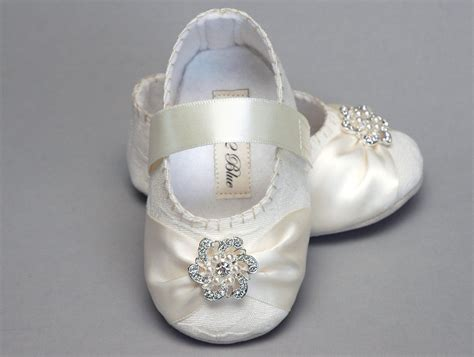 wedding flower shoes baby shoe caroline wedding flower by pink2blue