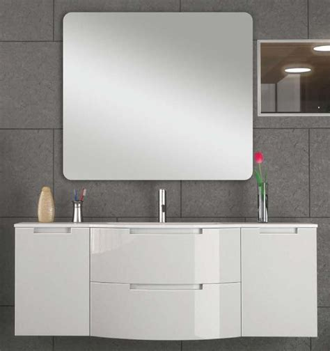 white floating bathroom vanity 57 inch modern floating bathroom vanity white glossy finish