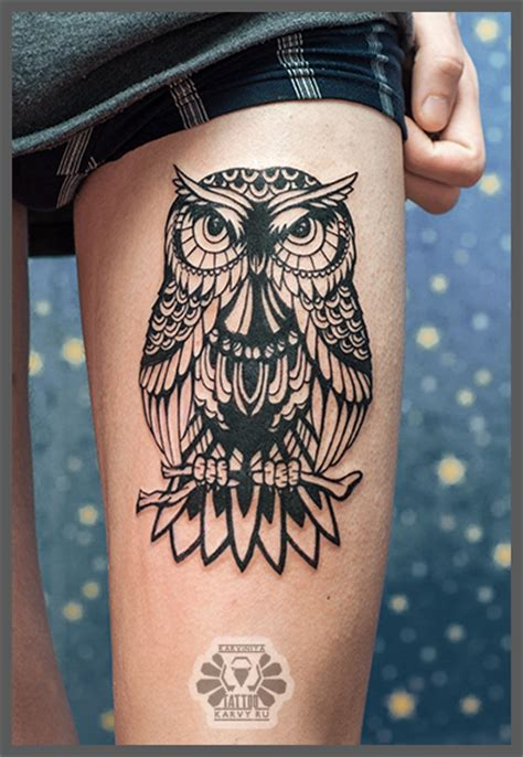white owl tattoo black and white owl by karviniya deviantart on
