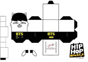 rap template bts hip hop jimin papercraft by ill dope swag
