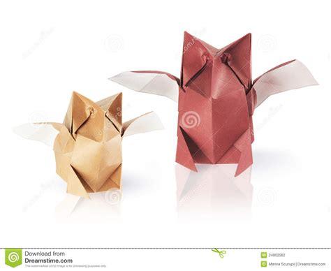 De Origami - de uilen de origami stock fotografie afbeelding