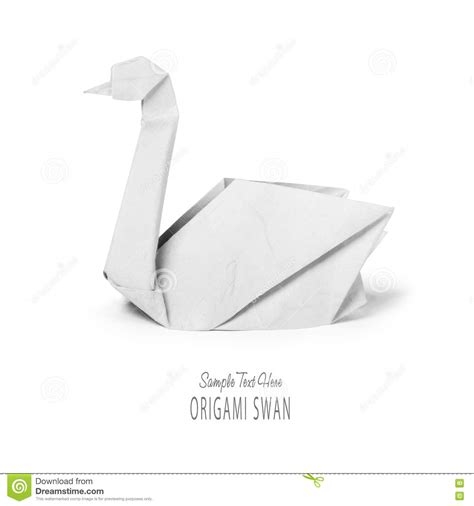 Origami Paper White - origami paper white swan stock image image of swan
